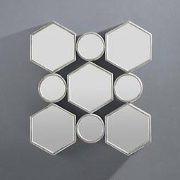 Spiegel Beni ca. 88x85,5 cm - Silberfarben, MODERN, Glas/Holzwerkstoff (88/85,5/6,5cm) - Mömax modern living