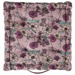 Boxkissen Poppyseed ca. 40x40cm - Flieder, ROMANTIK / LANDHAUS, Textil (40/40/8cm) - Modern Living