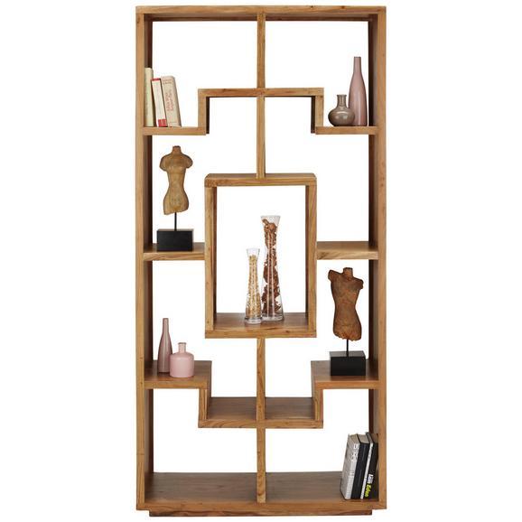 Raumteiler Naturfarben - Akaziefarben, LIFESTYLE, Holz (90/190/35cm) - Premium Living