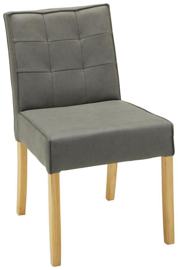 Stuhl in Grau - MODERN, Holz (50/86,5/62,5cm) - Zandiara