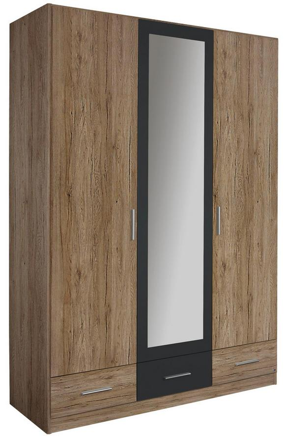 Omara S Klasičnimi Vrati Bühl - siva/hrast, Moderno, leseni material/les (136/197/54cm) - Mömax modern living