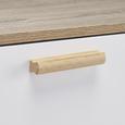 Kommode Claire - Naturfarben/Weiß, MODERN, Holz (96/85/42cm) - Modern Living