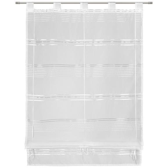 Bändchenrollo Louis in Weiß ca. 80x140cm - Weiß, KONVENTIONELL, Textil (80/140cm) - Mömax modern living