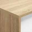 TV-Möbel Enny - Weiß/Pinienfarben, MODERN, Holz/Metall (120/34/35cm) - Bessagi Home