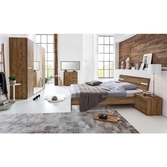 Spavaća Soba U Sivoj Boji, Cca.180x200cm - boje blata, Modern, drvni materijal (225/210/58cm) - Modern Living