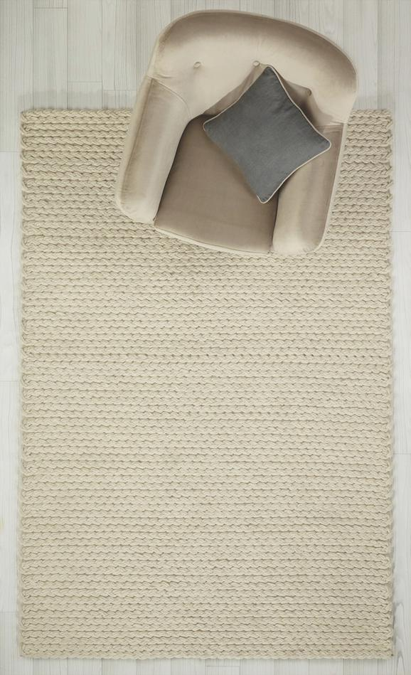 Teppich Kordula Handgewebt ca.80x150cm - Naturfarben, MODERN, Textil (80/150cm) - Premium Living