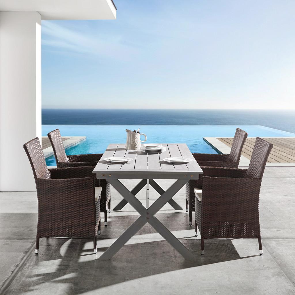 Gartentisch Ellen ca. 180x90cm aus Akazie in Grau