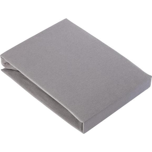 Spannbetttuch Basic in Grau ca. 180x200cm - Grau, Textil (180/200cm) - Mömax modern living