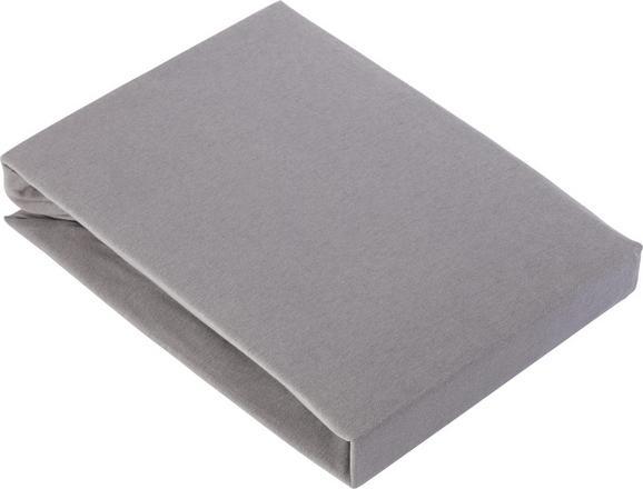 Spannleintuch Basic ca. 180x200cm - Grau, Textil (180/200cm) - Mömax modern living
