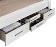 Bett in Weiß ca. 160x200cm - Weiß, KONVENTIONELL, Holzwerkstoff/Textil (160/200cm) - Modern Living