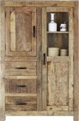 Highboard Braun Mangoholz - Naturfarben, LIFESTYLE, Holz (95/147/47cm) - ZANDIARA