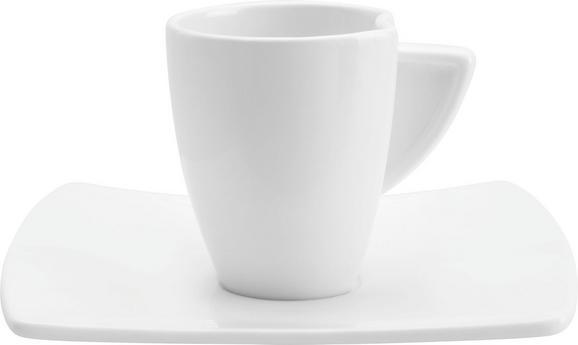 Espressotasse mit Untertasse Tacoma in Weiß - Weiß, LIFESTYLE, Keramik - PREMIUM LIVING