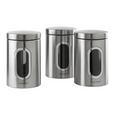 Echtwerk Vorratsdosenset 3-er Set Silberfarben - Silberfarben, MODERN, Metall (17,5cm) - Echtwerk