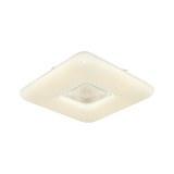 LED-Deckenleuchte Cleopatra max. 24 Watt - Weiß, ROMANTIK / LANDHAUS, Kunststoff/Metall (43,5/43,5/8cm) - Modern Living