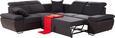 Sedežna Garnitura Logan - temno siva/črna, Konvencionalno, kovina/tekstil (270/270cm) - Premium Living