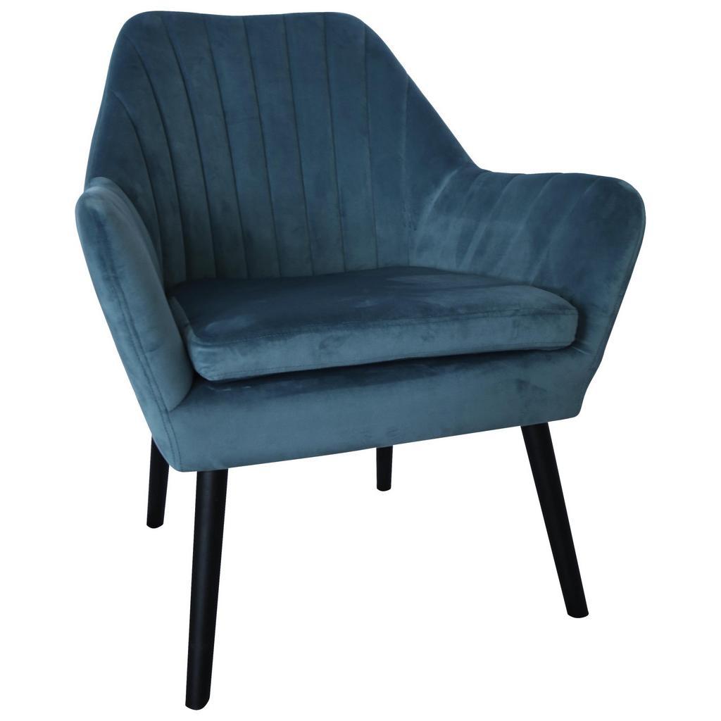 Sessel aus Samt in Blau