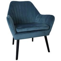 Sessel in Blau - Blau/Schwarz, MODERN, Holz/Textil (72/84/70cm) - Modern Living