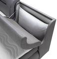 Boxspringbett Grau 180x200cm - Schwarz/Grau, Kunststoff/Textil (180/200cm) - Premium Living