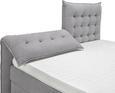 Postelja AURA - siva/črna, Konvencionalno, umetna masa/tekstil (214/198/131cm) - Premium Living