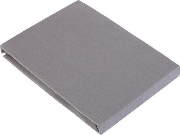 Spannleintuch Basic ca. 100x200cm - Grau, Textil (100/200cm) - Mömax modern living