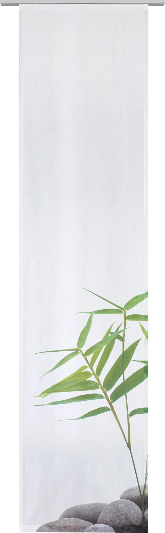 Flächenvorhang Spa Grün/Weiß 60x245cm - Weiß/Grau, LIFESTYLE, Textil (60/245cm) - Mömax modern living