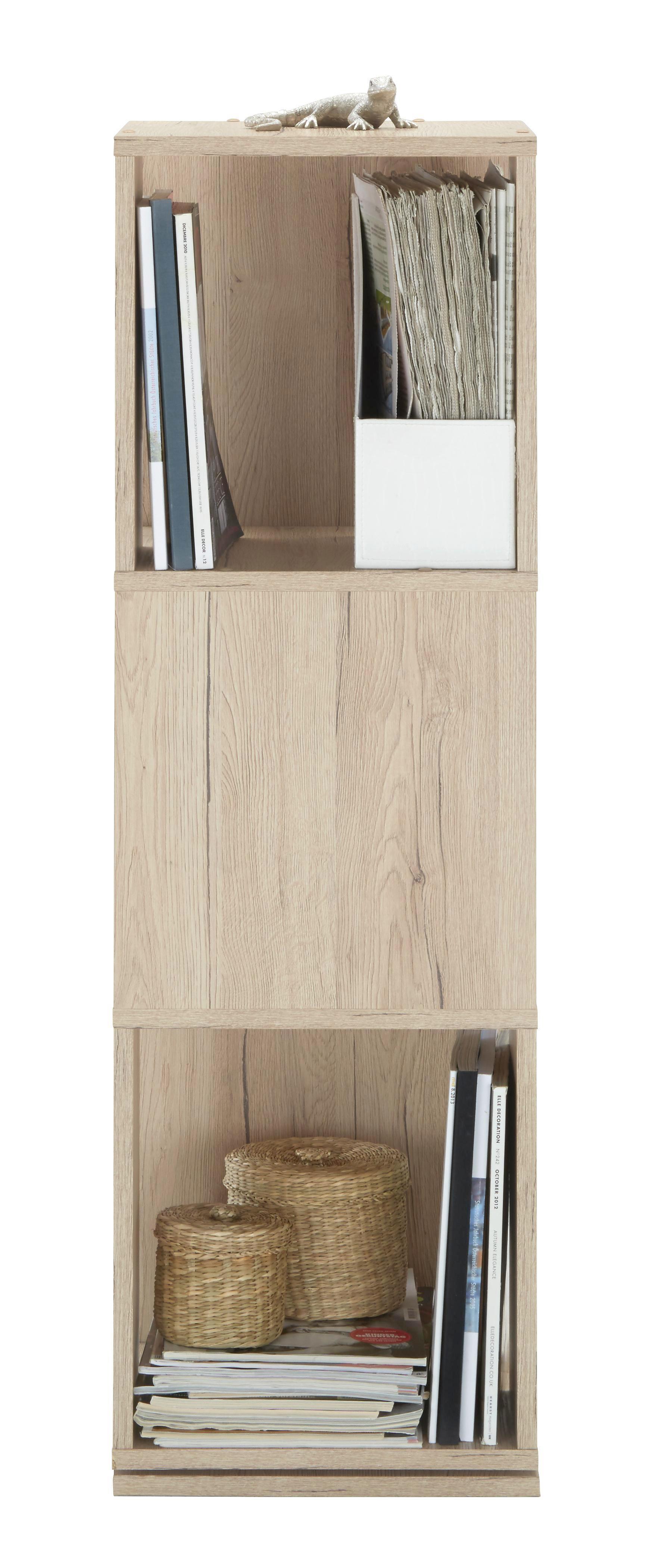 Polc Netto - tölgy színű, modern, faanyagok (34/108/34cm)