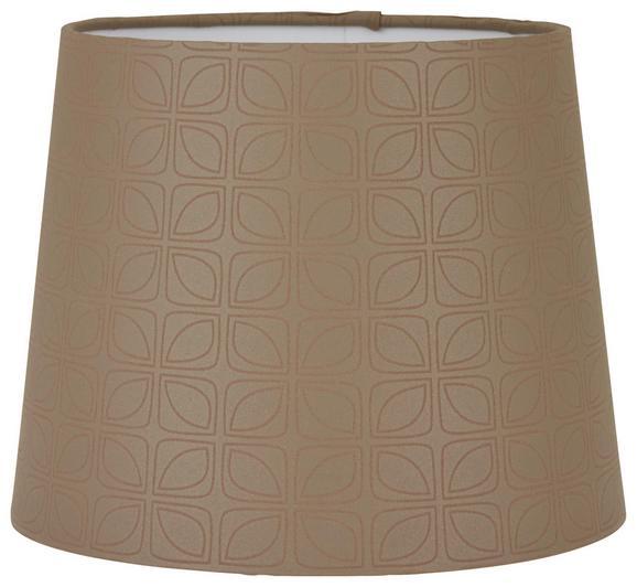 Leuchtenschirm Puse Braun max. 60 Watt - Braun, ROMANTIK / LANDHAUS, Textil/Metall (16,5-20/15,6/cm) - Mömax modern living