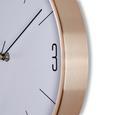 Wanduhr Jesper, ca. 30x4cm - Kupferfarben, MODERN, Glas/Metall (30,5/30,5/4cm) - Mömax modern living