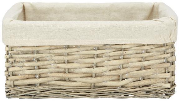 Košara Za Regal Larry - naravna/siva, Romantika, tekstil/les (32/14/23cm) - Mömax modern living