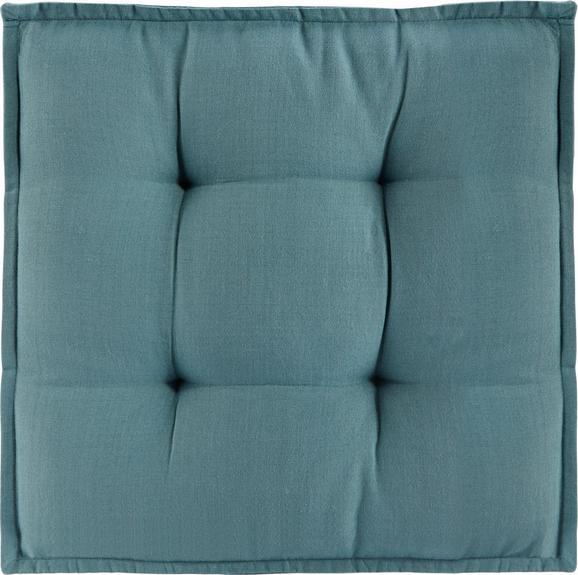 Boxkissen Solid, ca. 40x40x5cm - Blau, Textil (40/40/5cm) - MÖMAX modern living