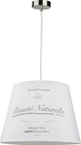 Leuchtenschirm Naturelle Weiß max. 60 Watt - Weiß, ROMANTIK / LANDHAUS, Textil/Metall (16,5-20/15,6cm) - Mömax modern living