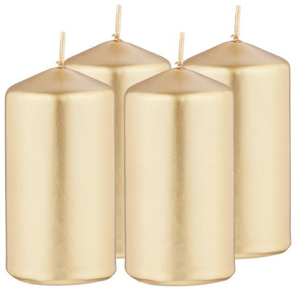 Stumpenkerzen Set Victoria Silber/gold/kupfer - Silberfarben/Goldfarben (5/10cm) - Mömax modern living