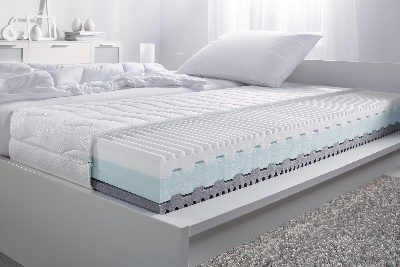 Wendematratze Komfortschaumkern ca. 80x200cm - Weiß, Textil (200/80cm) - NADANA