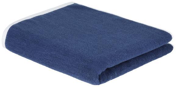 Duschtuch Axel in Blau - Blau/Weiß, Textil (70/140cm) - MÖMAX modern living