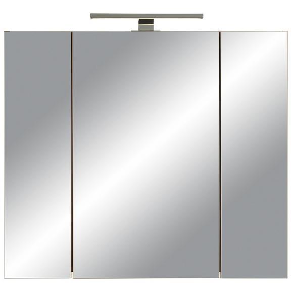 Spiegelschrank in Eichefarben - Eichefarben, MODERN, Glas/Holzwerkstoff (76/71/23cm)
