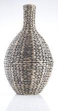 Vase Tobi in Braun/Schwarz - Schwarz/Braun, LIFESTYLE, Weitere Naturmaterialien/Metall (32/60cm) - MÖMAX modern living