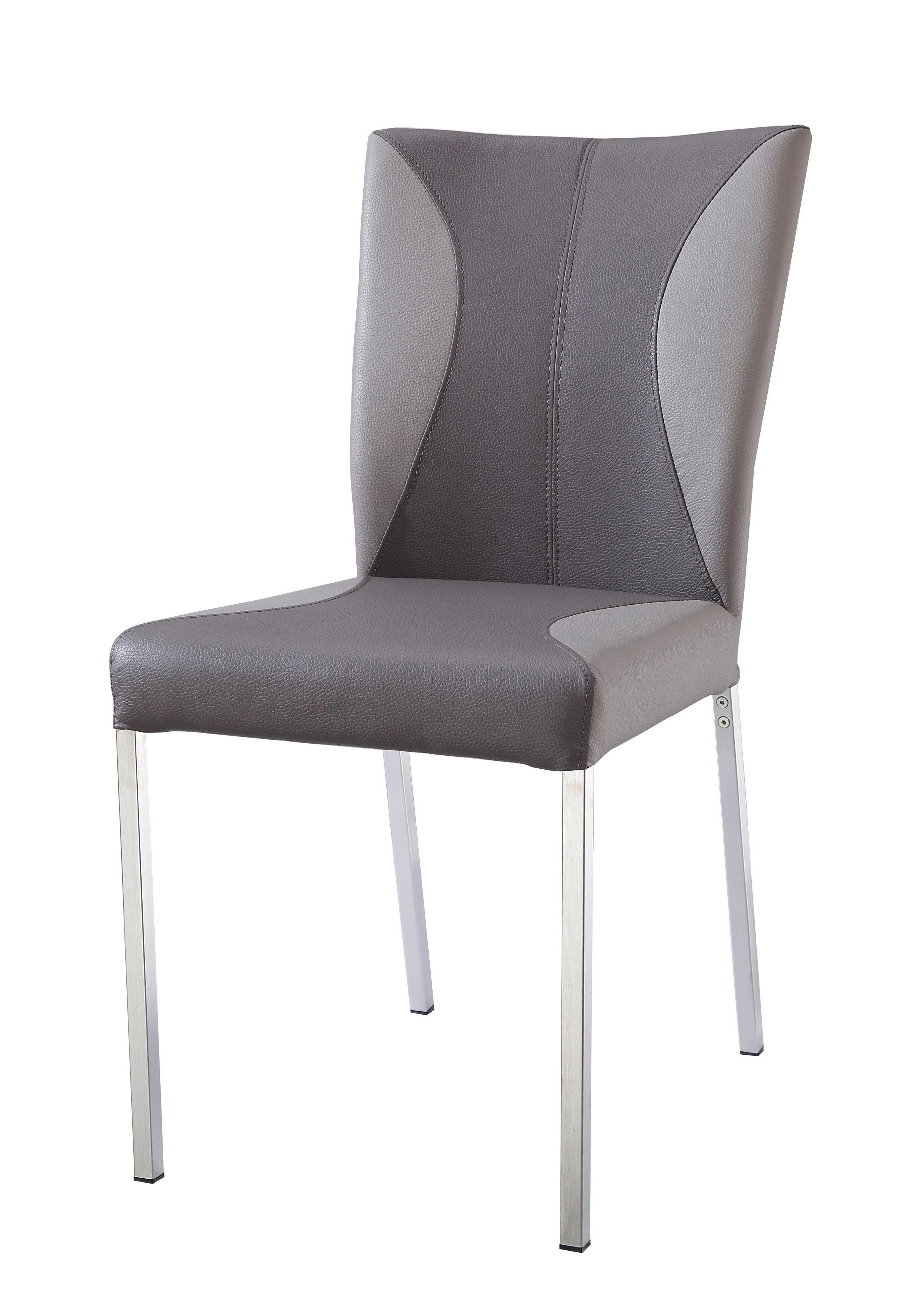 Stuhl in Schlammfarben/taupe - Taupe/Schlammfarben, MODERN, Textil/Metall (46/90/62cm) - MÖMAX modern living