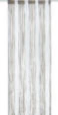 Fadenstore String Braun/gold/Weiß - Braun/Weiß, Textil (90/245cm) - Premium Living