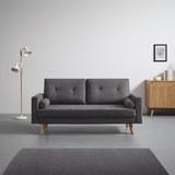 Sofa in Grau 'Alva' - Eichefarben/Grau, MODERN, Holz/Textil (181/82,5/84cm) - Bessagi Home