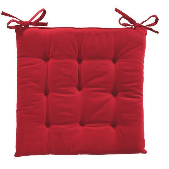 Pernă Şezut Lola - Roșu, Material textil (40/40/2cm) - Based