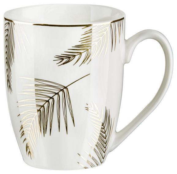 Lonček Za Kavo Oro - zlata/bela, Trendi, keramika (8,5/10,6cm) - Mömax modern living