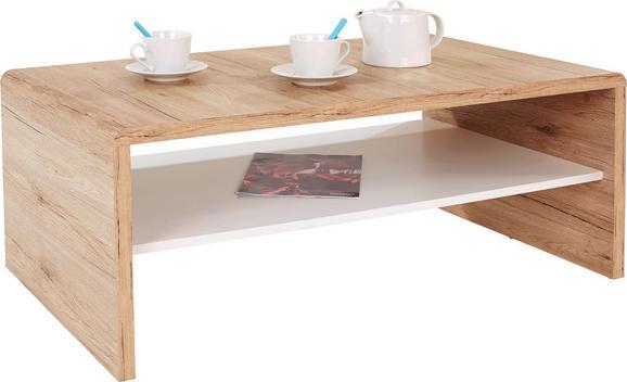 Klubska Miza Cala Luna - bela/hrast, leseni material (100/40/59cm) - Mömax modern living