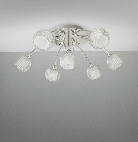 Deckenleuchte Bovary mit Led 7-flammig - Chromfarben, MODERN, Glas/Metall (65/65/20cm) - Mömax modern living