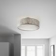 Deckenleuchte max. 40 Watt 'Emelle' - Nickelfarben, MODERN, Kunststoff/Metall (60/24cm) - Bessagi Home