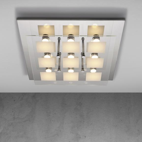 Deckenleuchte Louna mit Led 9-flammig - Chromfarben, MODERN, Glas/Kunststoff (48/8cm) - Mömax modern living