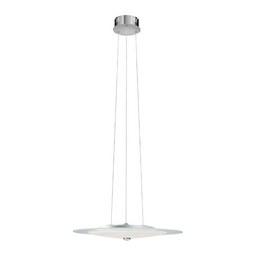 LED-Hängeleuchte max. 5 Watt 'Eclipse' - Chromfarben, MODERN, Metall (50/120cm) - Bessagi Home