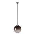 Hängeleuchte Lus max. 40 Watt - Chromfarben/Schwarz, LIFESTYLE, Glas/Kunststoff (30cm) - Modern Living