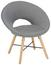 Sessel in Grau - Eichefarben/Grau, MODERN, Holz/Textil (60 78 70cm) - Modern Living