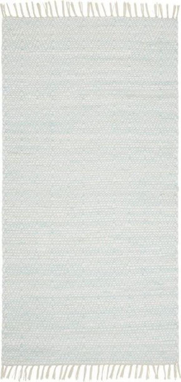 Handwebteppich Mary in Türkis, ca. 80x150cm - Türkis, ROMANTIK / LANDHAUS, Textil (80/150cm) - Mömax modern living