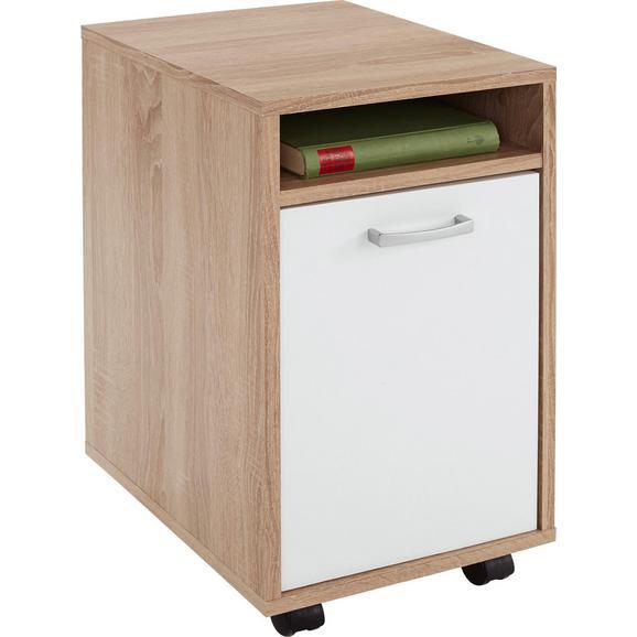 Predalnik Na Kolescih Laurenc - hrast, Moderno, umetna masa/les (33/59,5/38cm) - Mömax modern living